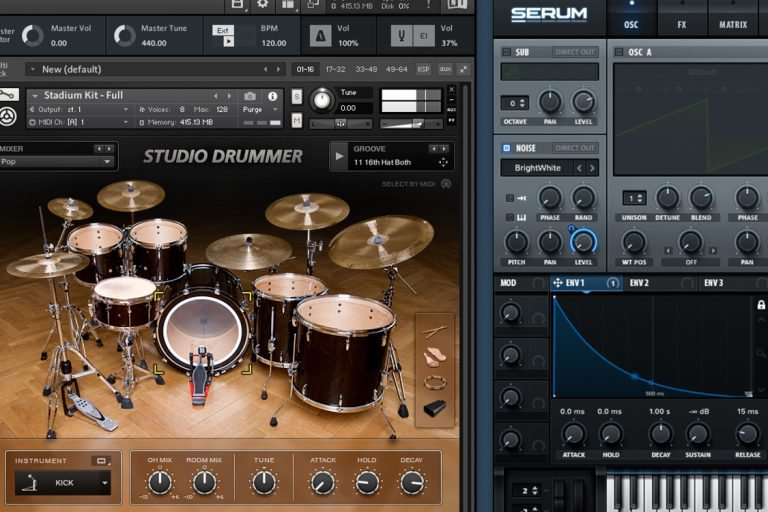 Snare noise layer